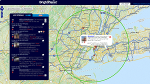 BlueJay, a tool by social media monitoring company BrightPlanet, shows the locations of tweeters who have left their geotagging option activated.