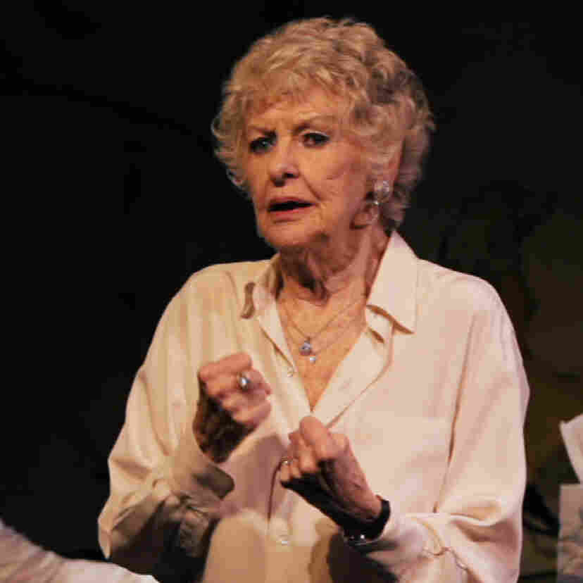 Fists balled and feet planted, cabaret legend Elaine Stritch powers through a song with her longtime music director, Rob Bowman, in a scene from Elaine Stritch: Shoot Me.