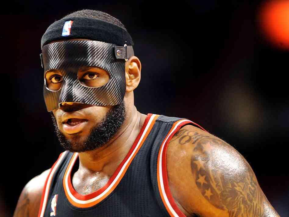 Lebron batman mask