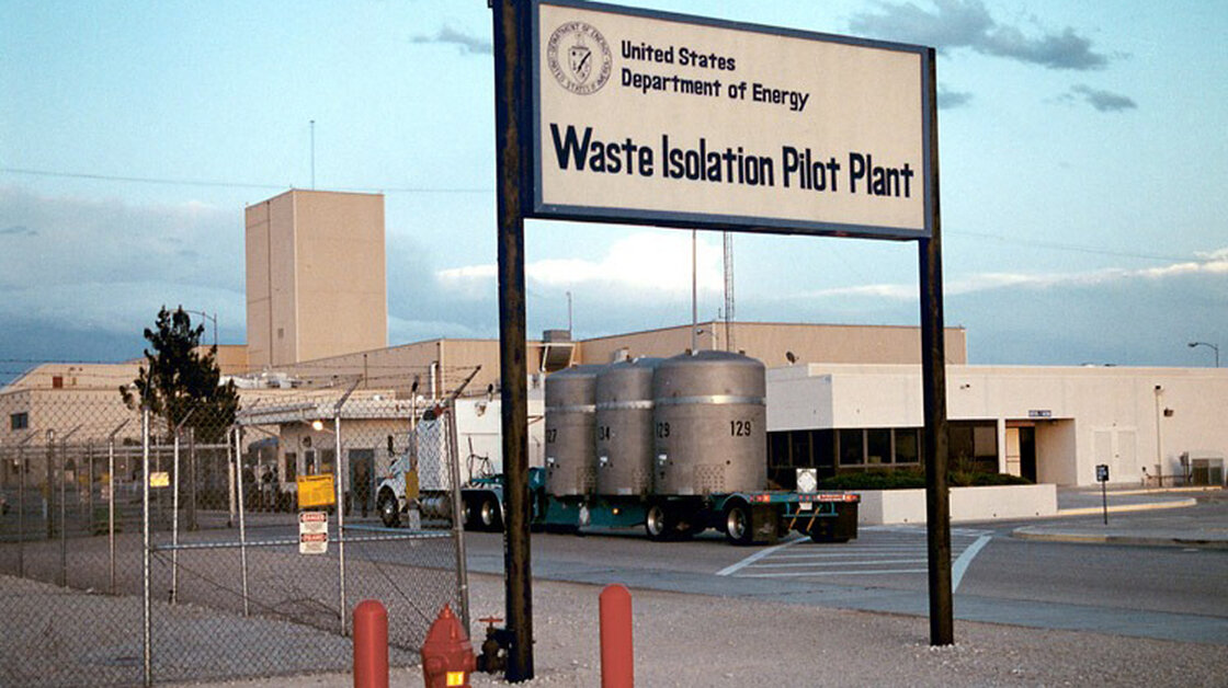 In this undated photo provided by the U.S. Department of Energy, a shipment of nuclear waste arrives at the Waste Isolation Pilot Plant, near Carlsbad, N.M.