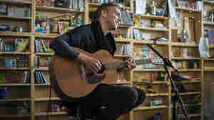 Asaf Avidan performs at a Tiny Desk Concert in February 2014.