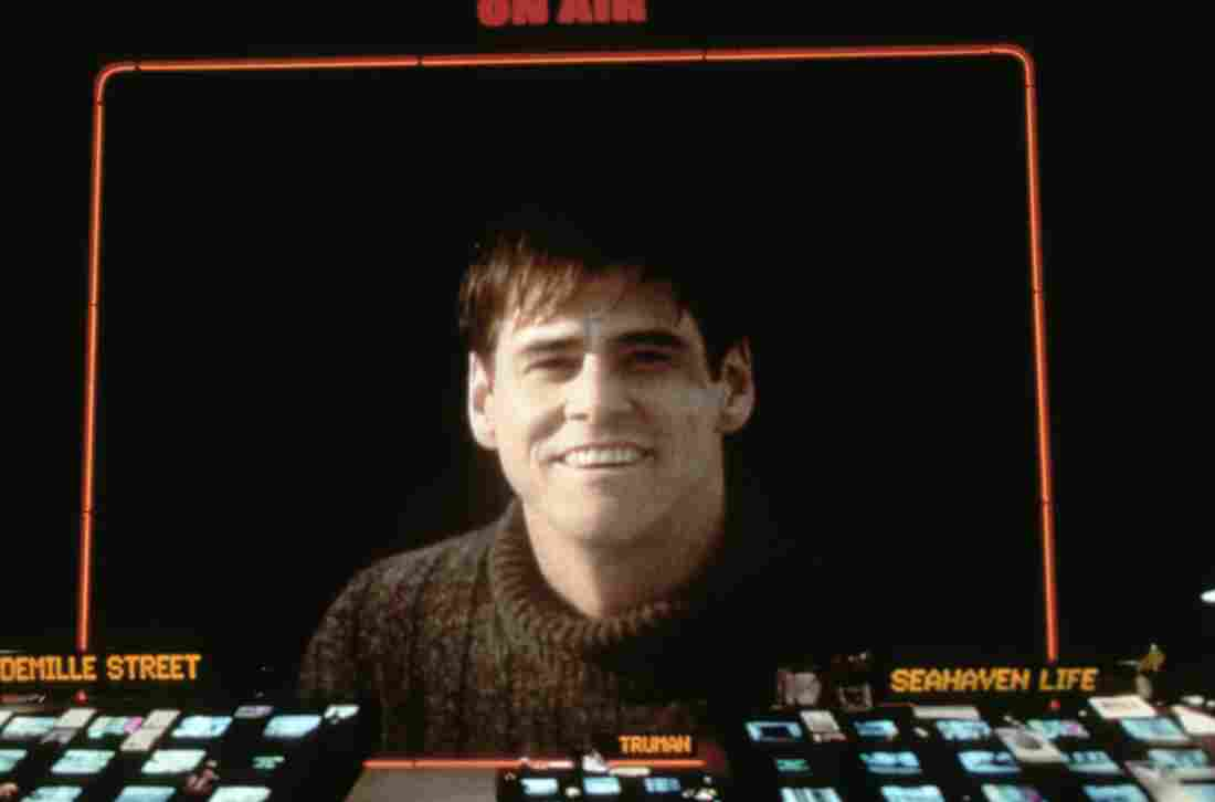 Jim Carrey as Truman Burbank, a man living in someone else's dream. The 1998 movie The Truman Show asks us to look at experience and reality with fresh eyes.