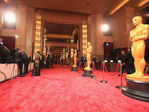 Red carpet's ready: The rope line awaits at Hollywood & Highland Center.