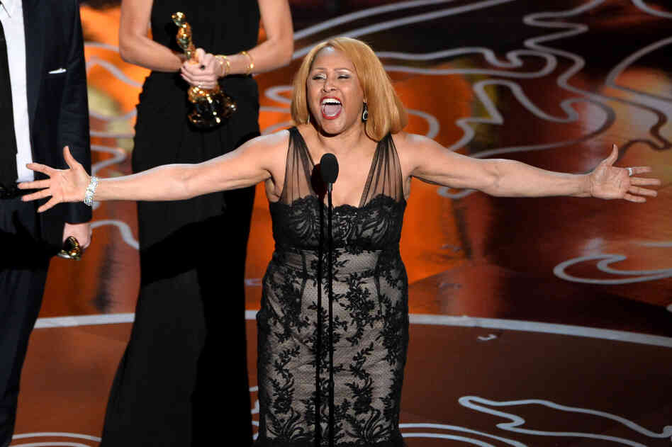 "Singer Darlene Love — featured in the Best Documentary Feature winner 20 Feet from Stardom — blew the roof off the Dolby Theater with a verse of the gospel standard ""His Eye Is on the Sparrow."""