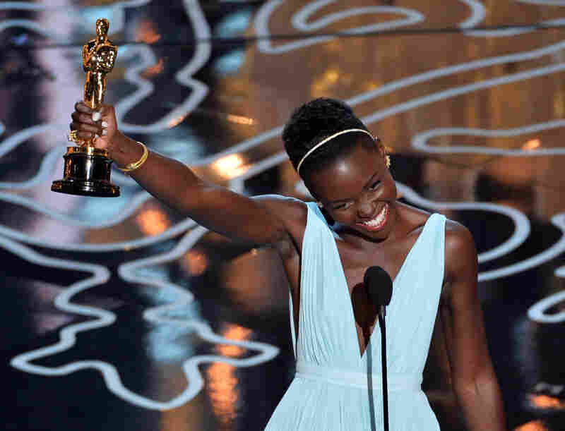 "The room exploded when Lupita Nyong'o won the Best Supporting Actress trophy for her role in 12 Years a Slave. ""No matter where you are from, your dreams are all valid,"" she said in her thank-you speech."