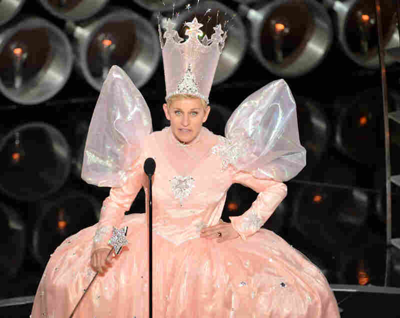 And then host Ellen DeGeneres put on her party dress, as part of a tribute to The Wizard of Oz in its 75th anniversary year.