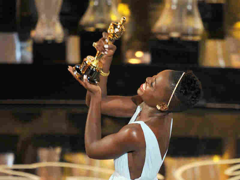The Mexico-born, Kenyan actress Lupita Nyong'o was one of several artists of color to collect awards during Sunday's Oscar ceremony. She won the accolade for best supporting actress.