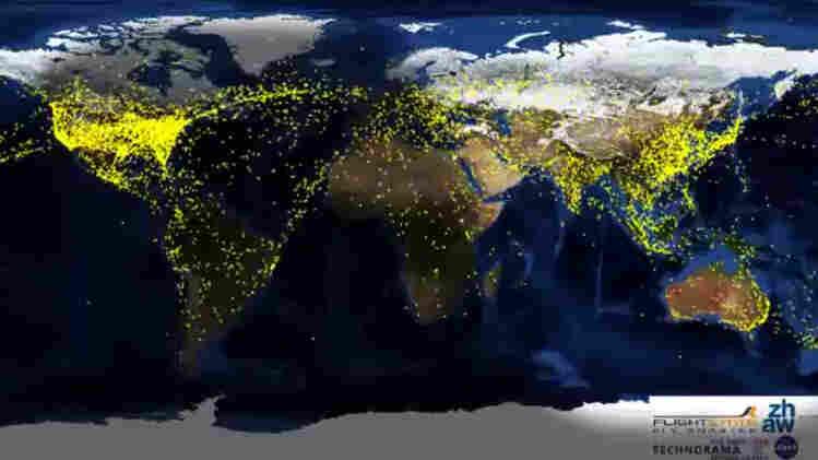 Air traffic worldwide.