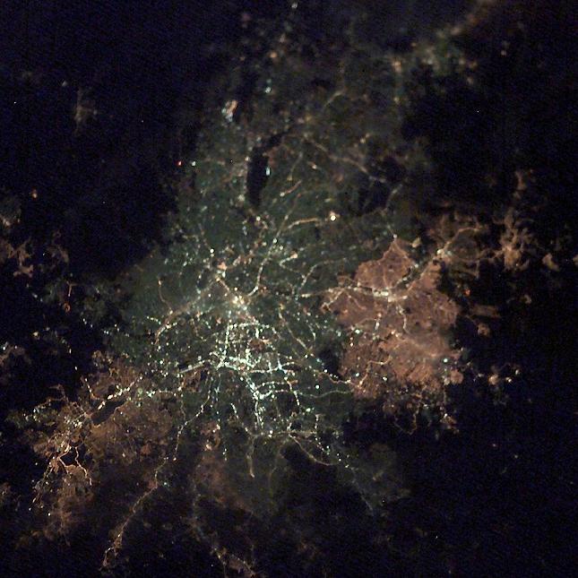 Sao Paolo, Brazil at night.