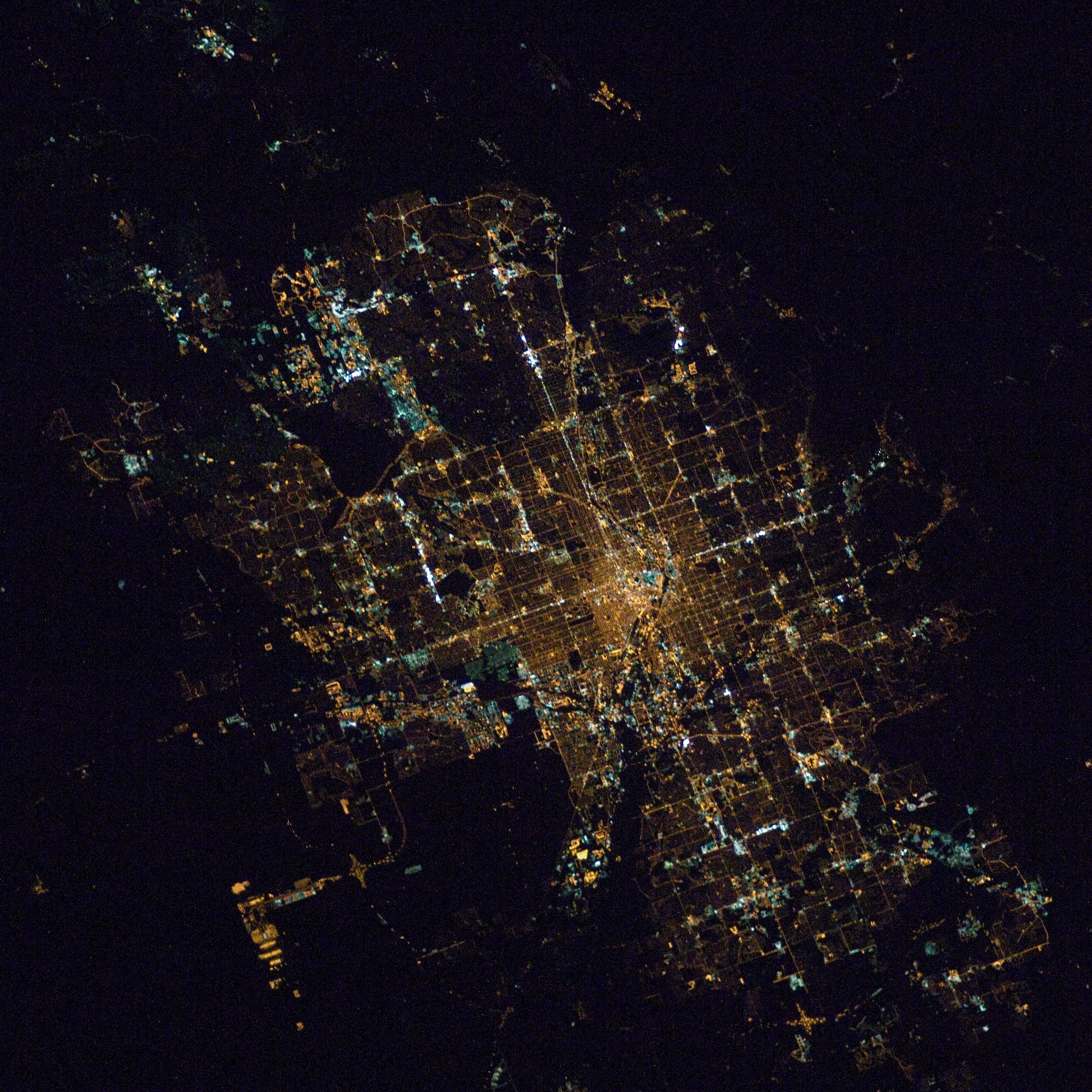 Denver at night.
