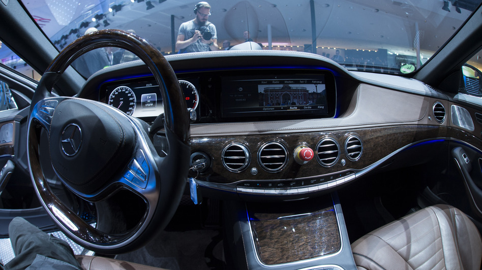 Mercedes' S500 Intelligent Drive is one traditional carmaker's approach to driverless cars. (AFP/Getty Images)