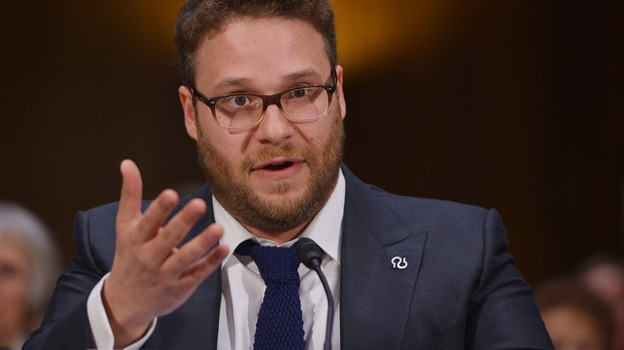 Actor and Alzheimer's advocate Seth Rogen testifies before the Senate Committee on Appropriations about the disease's damaging effects on patients and their loved ones. (AFP/Getty Images)