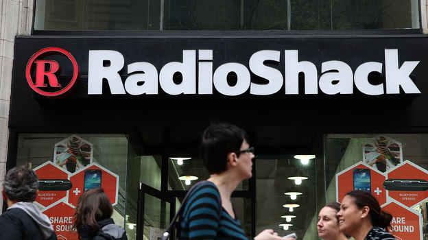 People walk by a Radio Shack storefront on Tuesday in San Francisco. (Getty Images)