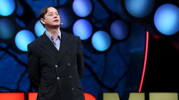 Writer Andrew Solomon speaking at TEDMED.