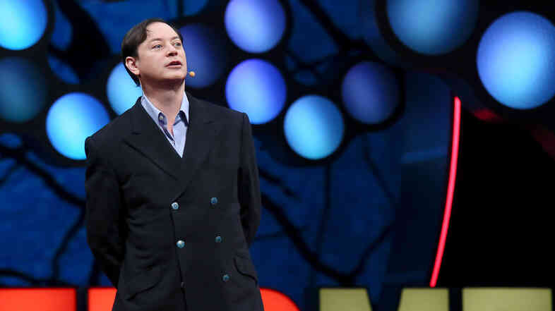 Writer Andrew Solomon speaking at TEDMED.