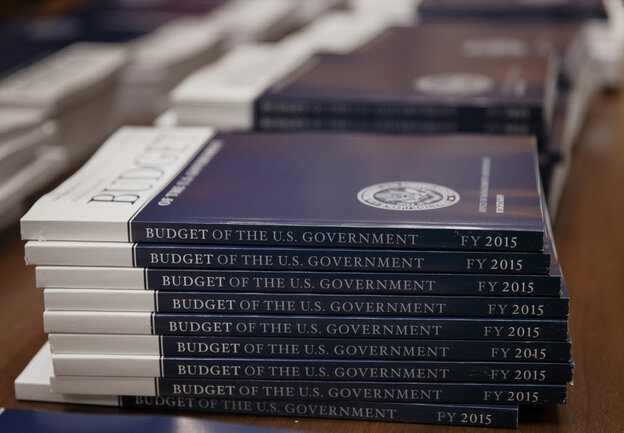 Copies of President Obama's proposed budget for fi