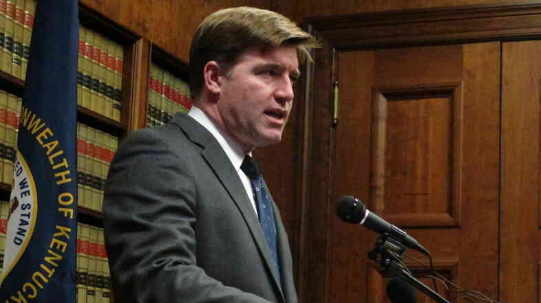"Kentucky Attorney General Jack Conway, pictured in January 2013, said that appealing the judge's order ""would be defending discrimination."""