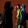 Iranian women, shown here in downtown Tehran, are among groups in the country pushing for social and economic change.
