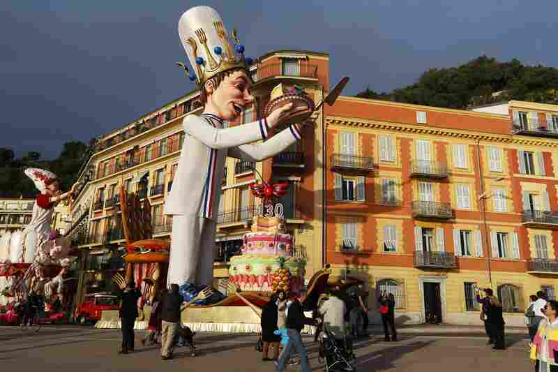 "The ""King"" float parades during the Nice Carnival in southeastern France. The theme of this year's carnival, running from February 14 until March 4, is the ""King of Gastronomy."""