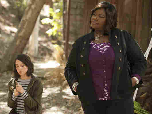 Donna Meagle (Retta), seen with April Ludgate (Aubrey Plaza), is not a lady whose Mercedes you want to bump in a parking lot.