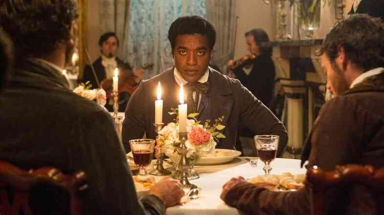 In Twelve Years A Slave, Chiwetel Ejiofor plays Solomon Northup, who was kidnapped and sold into slavery.