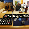 Electronic cigarettes for sale in Vapeology LA, a store in Los Angeles, are tended by owner John Hartigan.