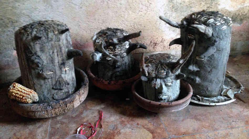 Eleggua shrines in Matanzas, Cuba.