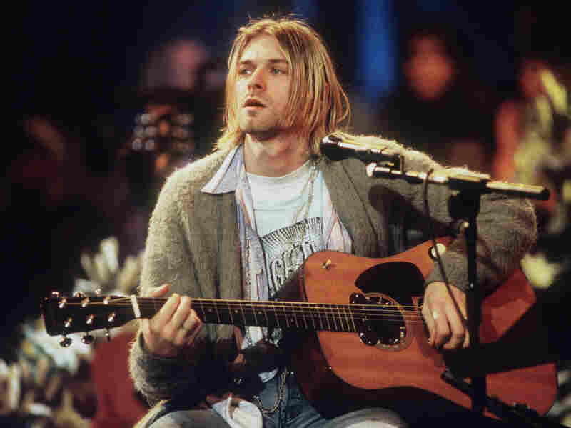 """I woke up in my mother's arms."" Kurt Cobain of Nirvana sings for MTV Unplugged in 1993."