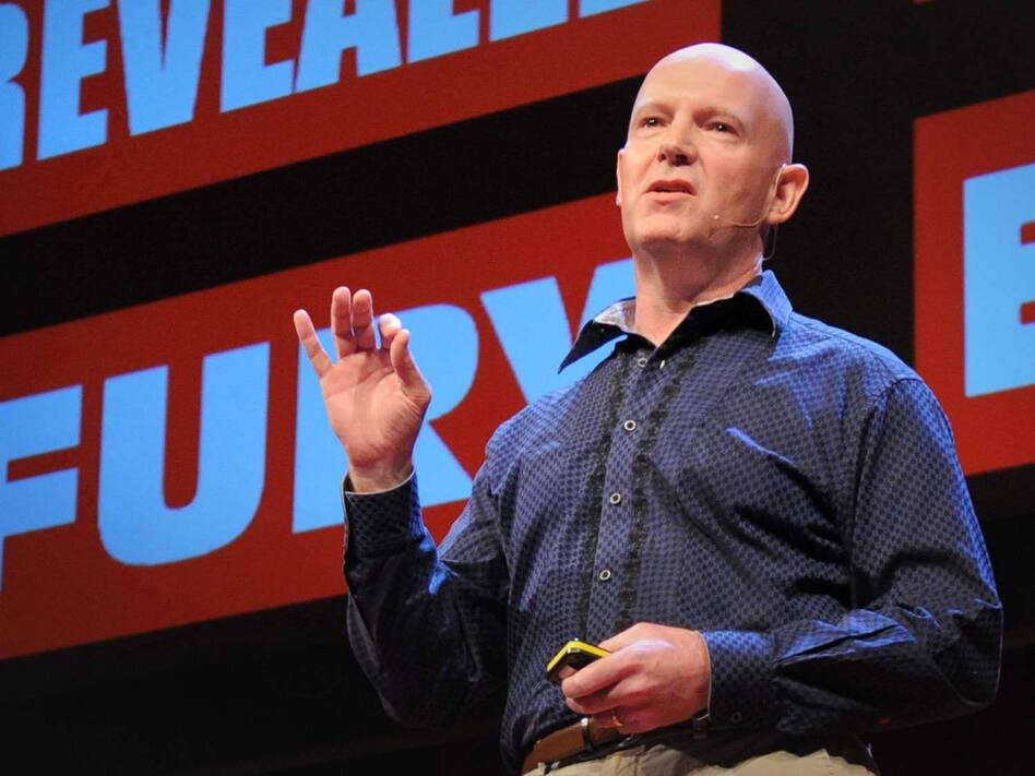 Julian Treasure speaking at TED. (James Duncan Davidson/TED)
