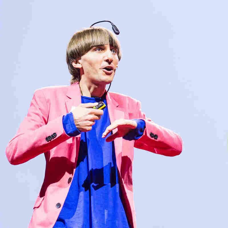 Artist Neil Harbisson speaking at TED Global.