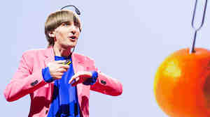 Artist Neil Harbisson speaking