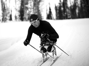 Andy Soule, a U.S. Army veteran, lost both his legs to a bomb in Afghanistan in 2005. Four years ago, he won America's first medal — Olympic or Paralympic — in the biathlon event.