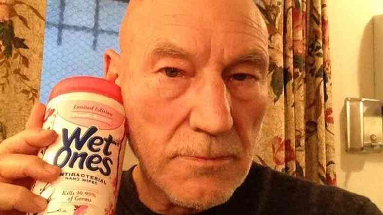 Patrick Stewart jumped into a quick-growing meme on Wednesday night.