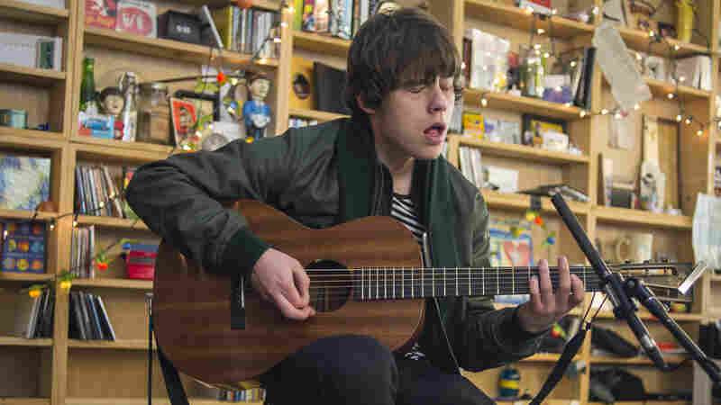 Jake Bugg performs at a Tiny Desk Concert in February 2014.