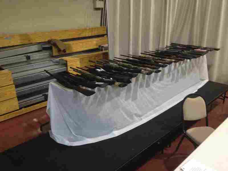 Twenty-five guns were up for grabs at the event. Raffle winners must pass a background check to claim their prize.