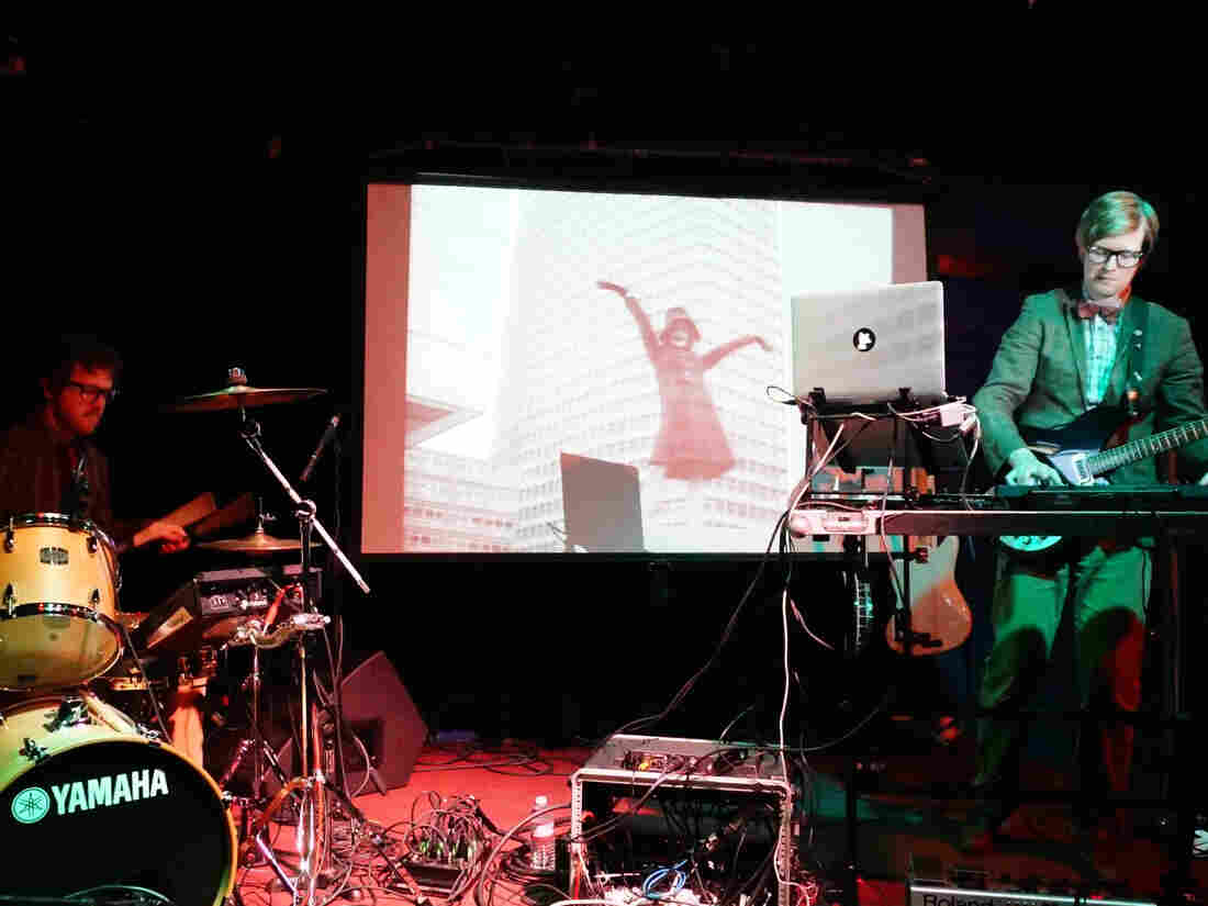 Public Service Broadcasting performing at the Black Cat in Washington, D.C.