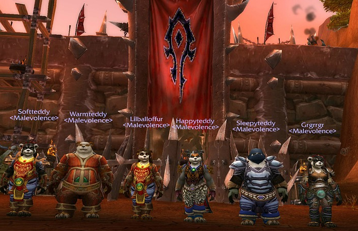 "The Pandaren are a fairly new race in WoW — ""giant pandas that belong to clans with Chinese-sounding names and lands filled with 'Asian' architecture,"" as one person told us — and they show how real-world racial notions creep into the game's universe."