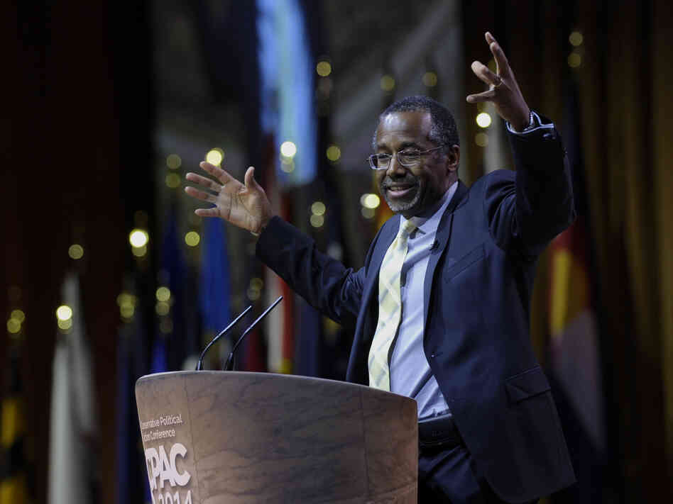 With his outspoken conservative views, Dr. Ben Carson is a hit among Republicans. He spoke at the Conservative Political