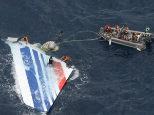 Brazil's navy sailors recover debris from Air France Flight 447 in the Atlantic Ocean on June 8, 2009. It took until 2012 to detail what happened in that crash.