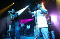 The Alabama hip-hop group G-Side performing at The Parish at SXSW in 2010.