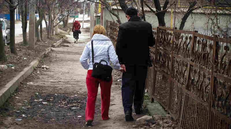 Oxana and Pavel Rucsineanu fell in love while living at a tuberculosis ward in Balti, Moldova.