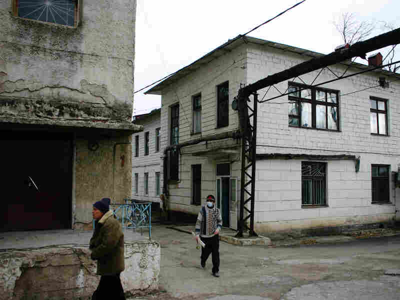 The crumbling hospital in the Moldovan city of Balti where Oxana and Pavel Rucsineanu were treated for drug-resistant tuberculosis.