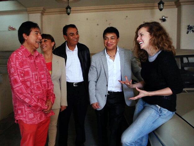 NPR Music's Alt.Latino Host Jasmine Garsd (far right) reporting in Mexico City.