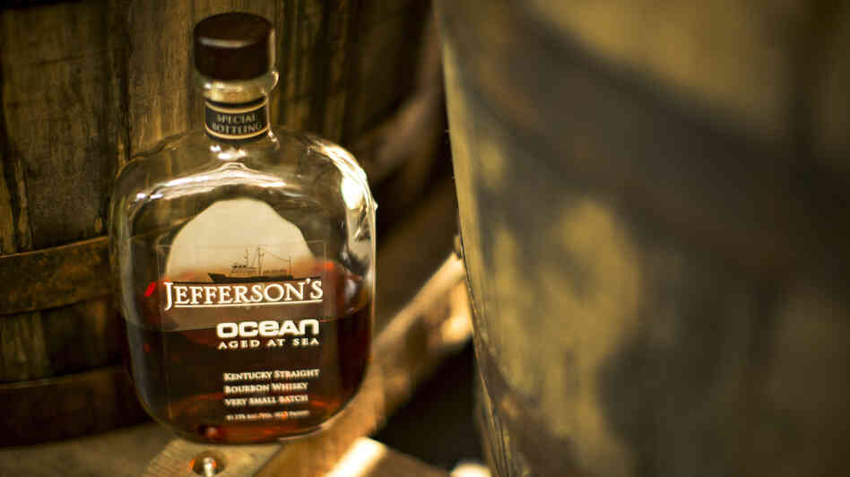 Jefferson's Ocean bourbon is aged on the high seas, a technique that takes advantage of basic physical chemistry. The bottles sell for $200 a piece.