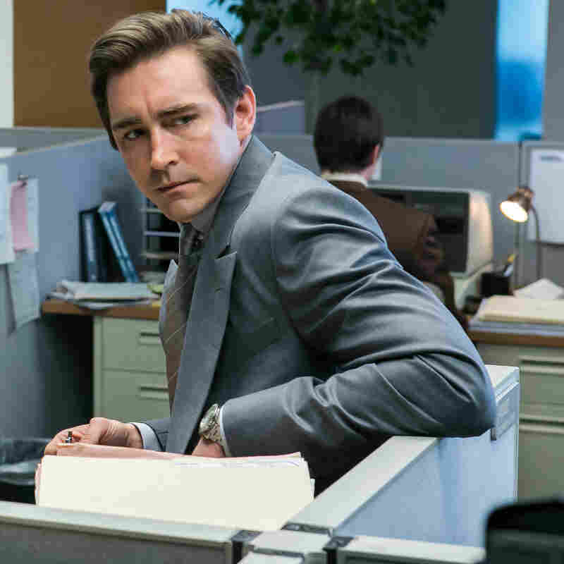 Scoot McNairy (left) and Lee Pace star in AMC's upcoming show Halt and Catch Fire.