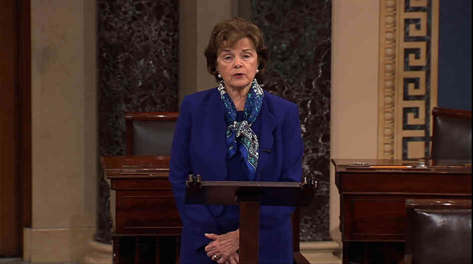 Sen. Dianne Feinstein accused the CIA publicly and at length of hacking Senate computers to spy on Senate aides and remove documents.