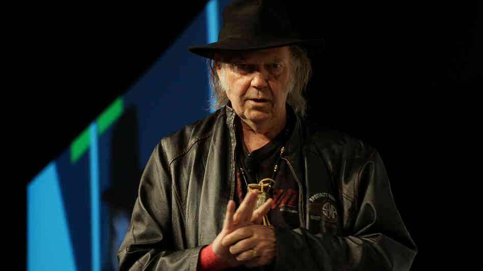 """Pono plays back whatever the artist decided to do or the artist's producer decided to do,"" says Neil Young in a speech about his new audio player."