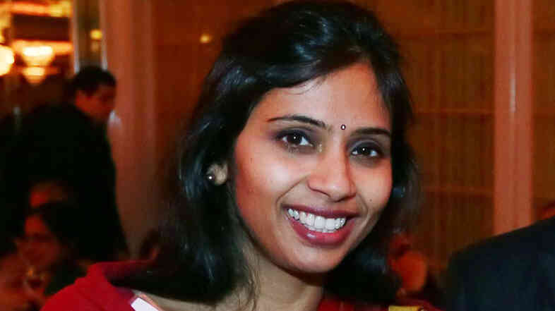 Devyani Khobragade at an India Studies Stony Brook University fundraiser in Long Island, N.Y., on Dec. 8, 2013.