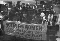 Without World War I, the woman's suffrage movement might have been slower to gain traction.