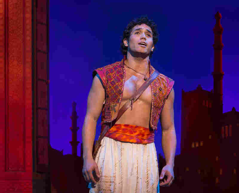 """Disney hit it big on Broadway with The Lion King, but The Little Mermaid and Tarzan didn't fare quite so well. Aladdin --€"""" the Arabian Nights story of a young street urchin, a princess and a big blue genie — is Disney's latest adaptation attempt."""